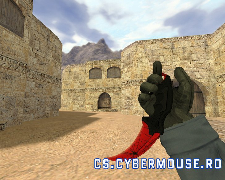 Knife Karambit Crimson Web