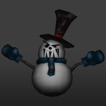 Skin Angry Snowman